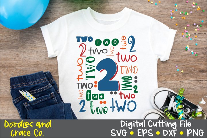Second Birthday Cut File and Sublimation, SVG, PNG, DXF, EPS