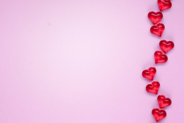 Valentines day or Wedding romantic concept with hearts