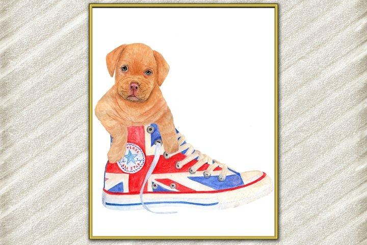 Cute dog digital print ,Puppy Posters, Funny dog print