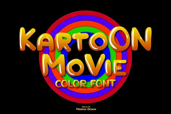 Kartoon Movie | Color Font