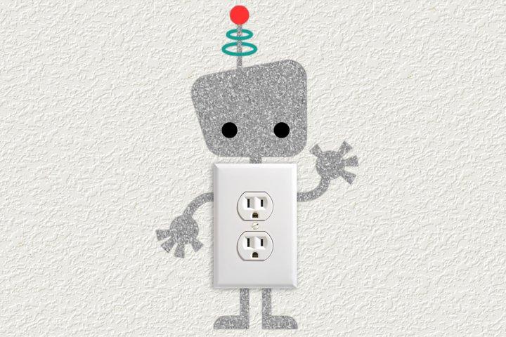 Robot Light Switch and Outlet Decoration SVG Design