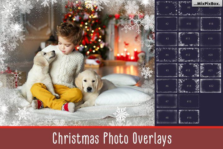 20 Christmas Photo Overlays