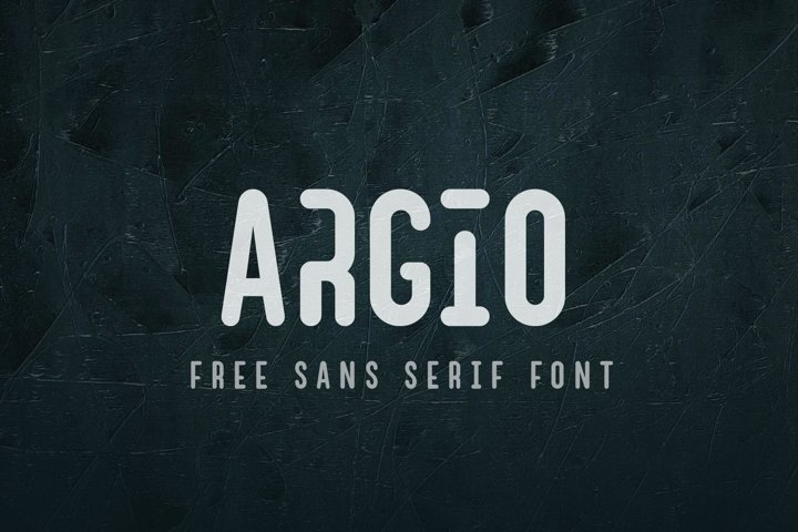 Argio Regular - Sans Serif with optional Stencils