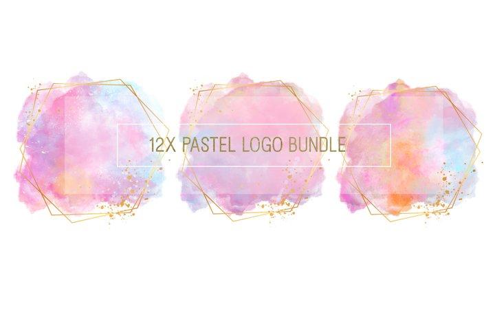 Pastel Logo Bundle with Gold Frame.