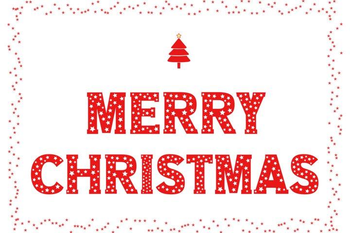 Merry Christmas Design SVG