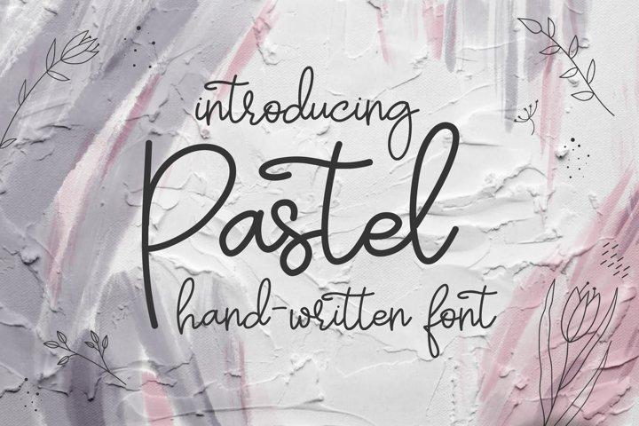 Pastel | hand-written font