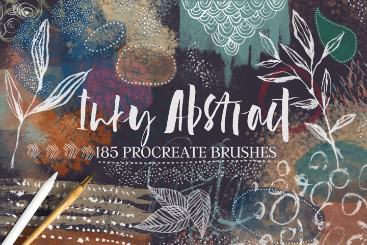 Inky Abstract Procreate Stamps and Brushes