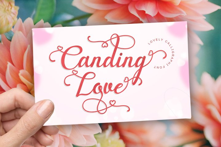 Canding Love - Script font Type face