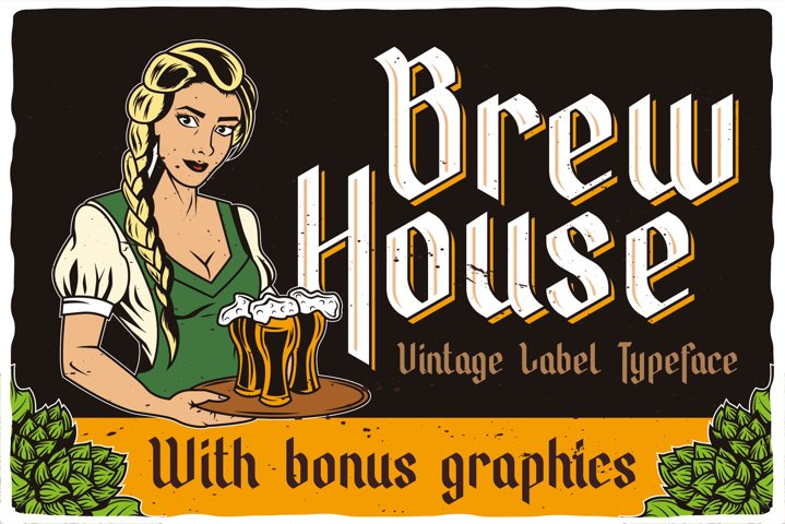 Brew House Label Font