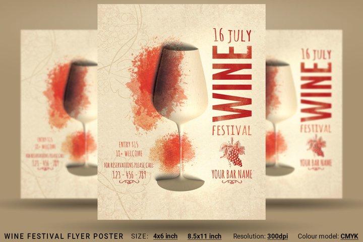 Wine Festival Flyer Poster