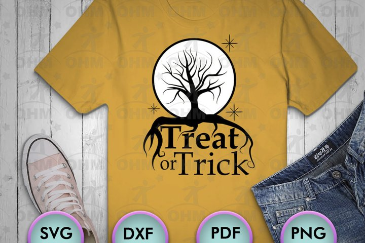 Treat or Trick svg, Halloween svg files, Halloween png