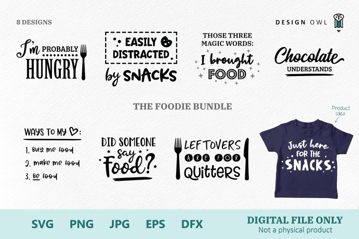 The Foodie Bundle - SVG files