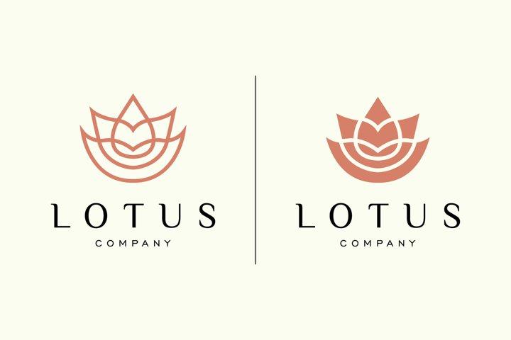 lotus flower yoga peace logo template vector logo design