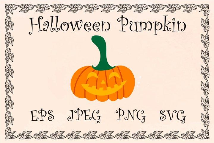 Pumpkin Clip art, Cute Halloween SVG, Halloween SVG,EPS PNG