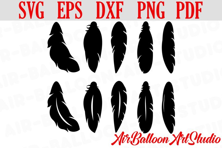 Feather SVG Feather Bundle SVG Feather Vector Digital File