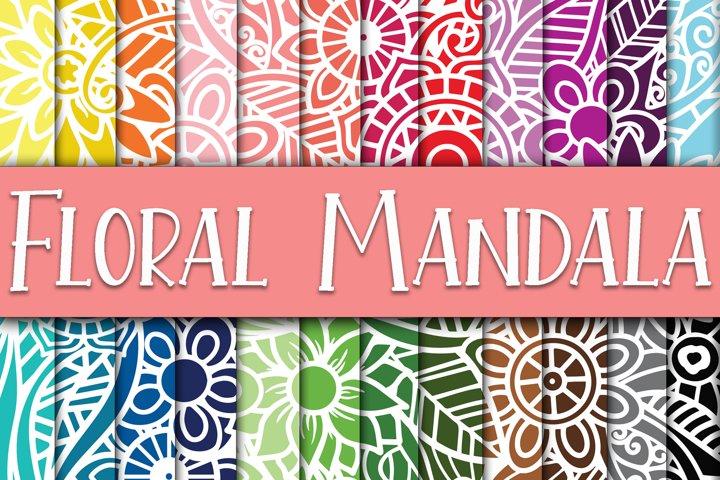 Floral Mandala Digital Papers
