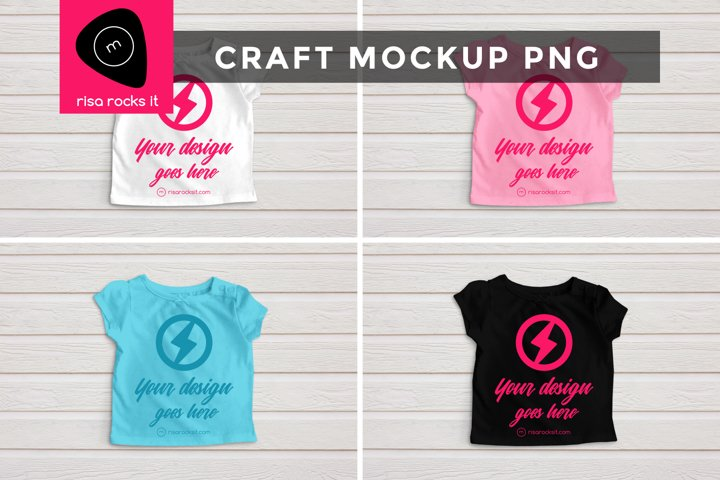 Childs Tee with Bow Craft PNG Mockup