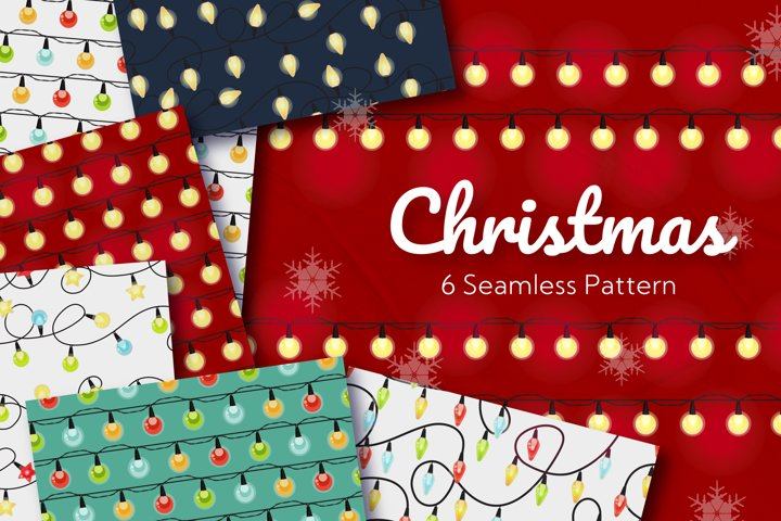 Christmas Lighting Seamless Pattern