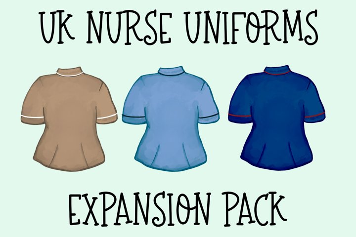 UK Nurse-Care Workers Uniform Expansion Pack|Build a Bundle