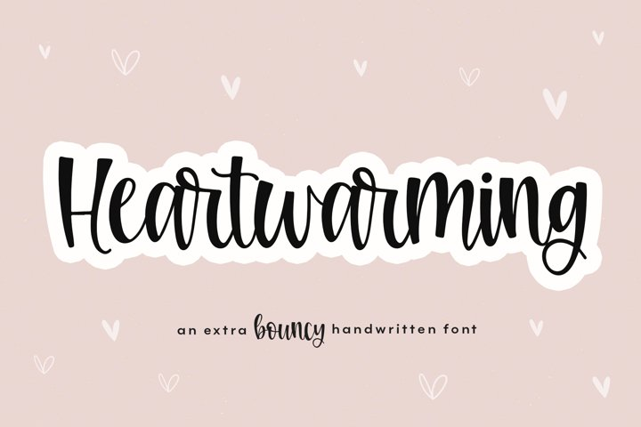 Heartwarming - A Bouncy Handwritten Script Font