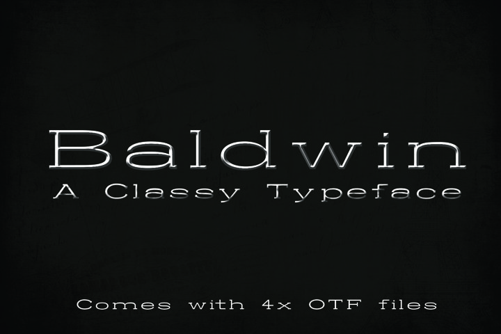 BALDWIN - A classy typeface