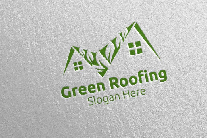 Real estate Green Roofing Logo 32