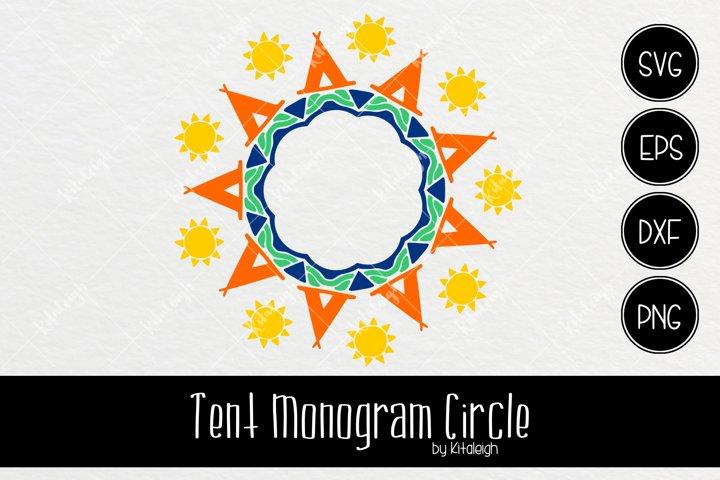 Tent Mandala Monogram Frame