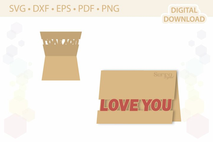 Love You Card template .svg .dxf .eps .pdf .png