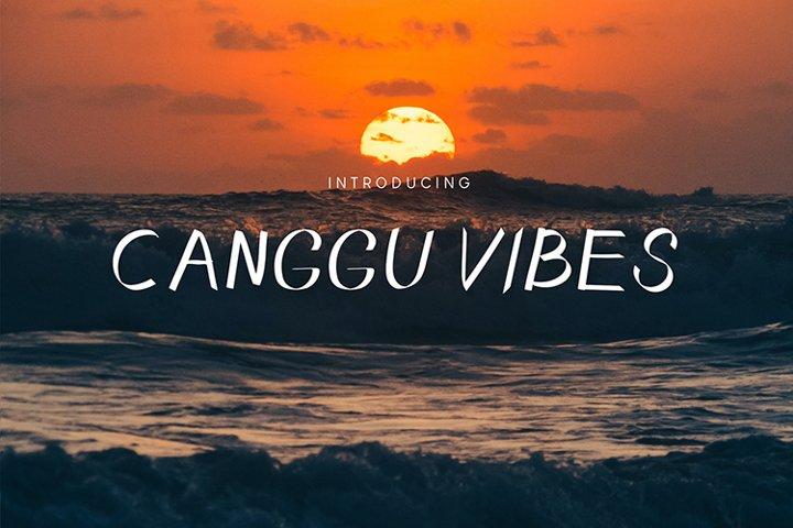 Canggu Vibes Script Font