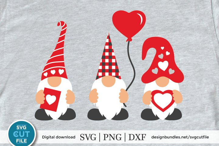 Valentines Day Svg, Valentine Gnomes Svg, three gnomes svg