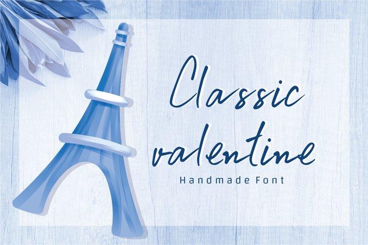 Classic valentine - A cute handwritten font