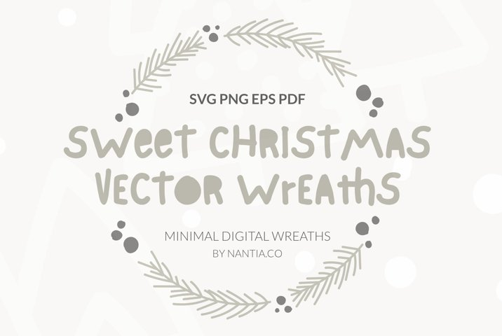 Sweet Christmas Vector Wreaths