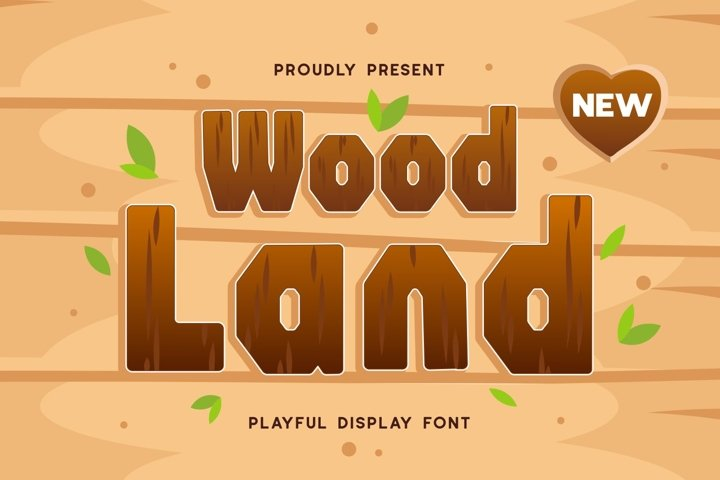 Woodland - Playful Display Font