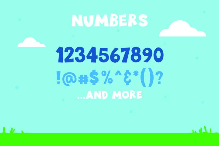 Little Munstar - A Monster Font example 3