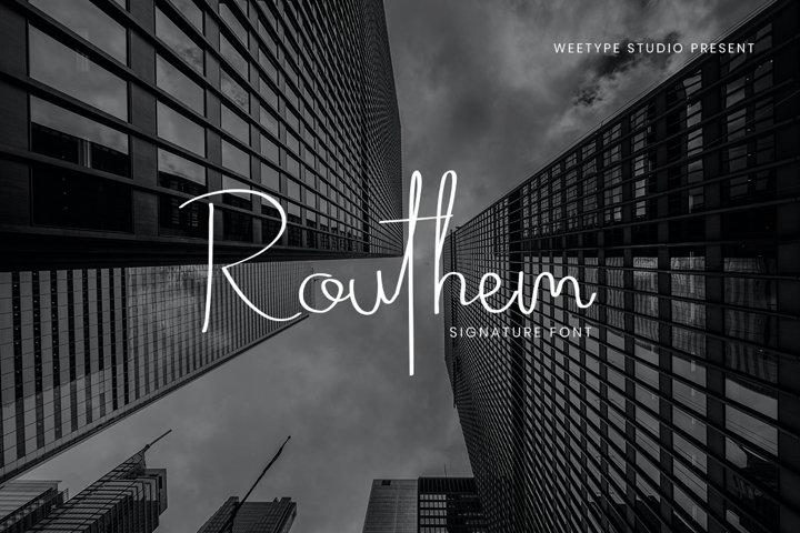 Routhem - Signature Script