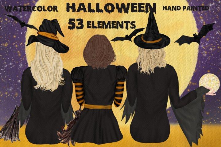 Halloween clipart Witches sitting Halloween Mug, Full Moon