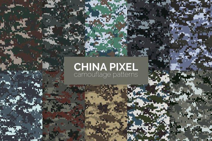 China Pixel Camouflage Patterns