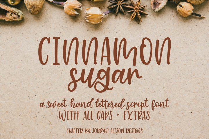 Cinnamon Sugar, Hand Lettered Script Font