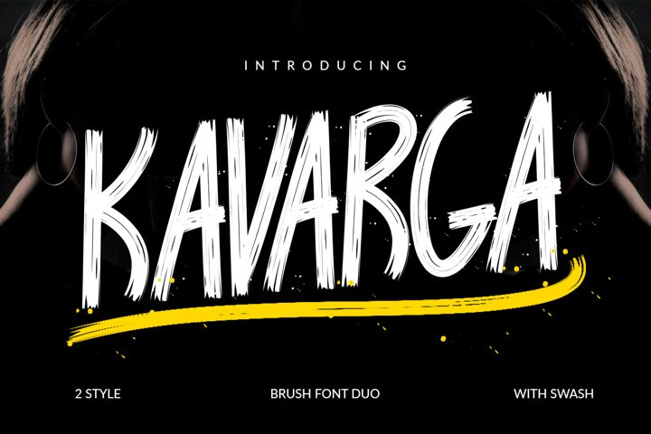 KAVARGA - Brush Font
