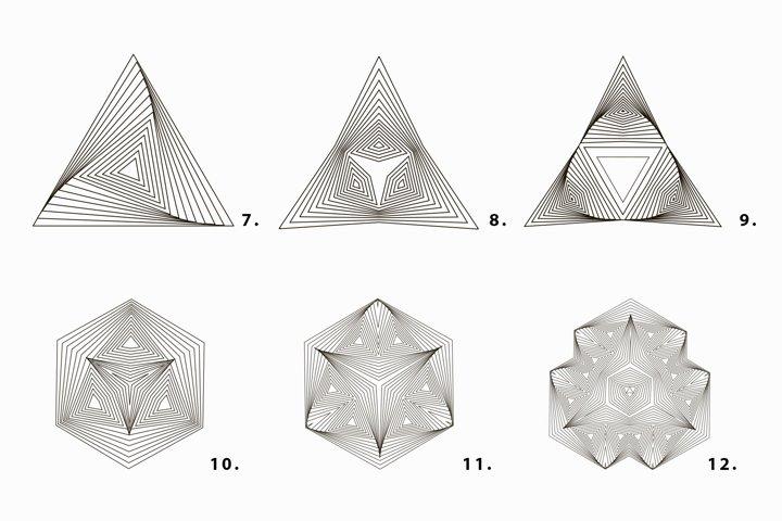 Illusion linear geometric shapes example 5