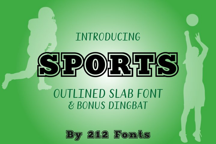 212 Sports Display Font Jersey Alphabet and Dingbat OTF