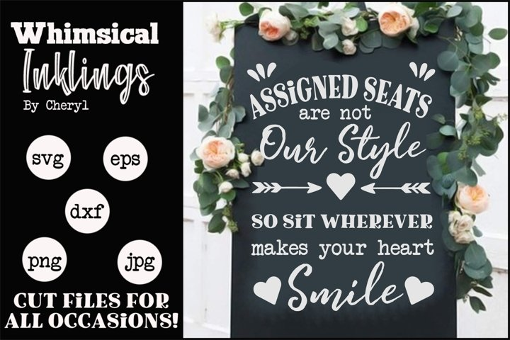 Assigned Seats-Wedding SVG