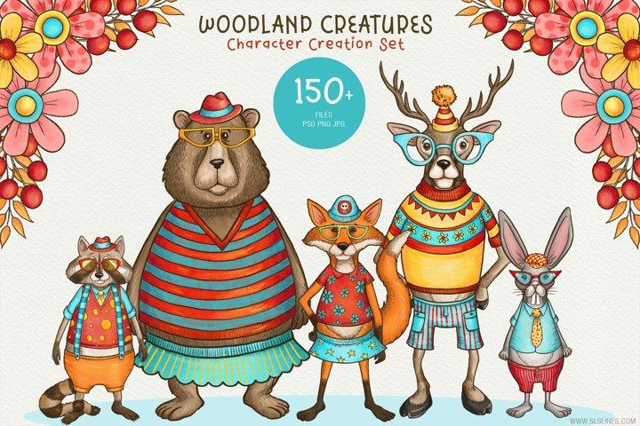 Woodland Animals Character Creator Set