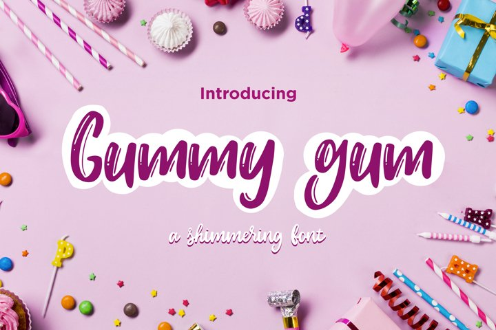 Gummy gum - cartoon font