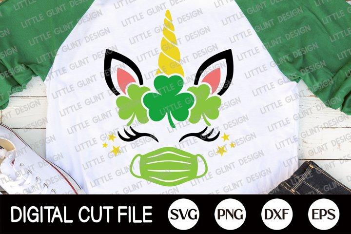 St Patricks Day Svg, Quarantine st patricks, Clover Unicorn