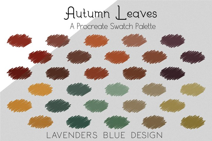 Autumn Leaves Procreate Swatch Colour Palette