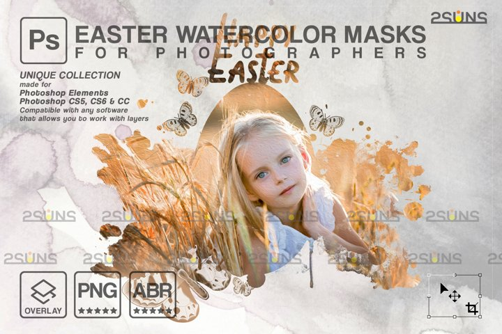 Easter Watercolor overlay & Photoshop overlay