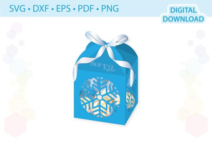 Snowflake Favor box template .svg .dxf .eps .pdf .png