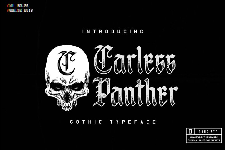 Save Carless Panther Blackletter Font