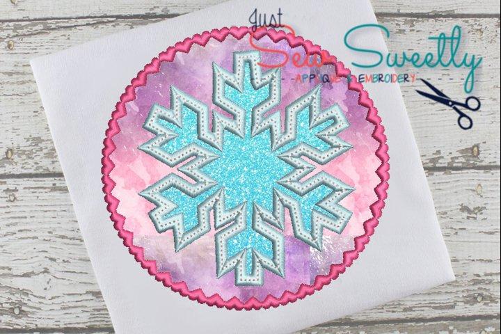 Christmas Snowflake Applique Embroidery Design